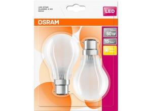 BLI2 Ampoules LED Standard verre dépoli 7W=60 B22 chaud