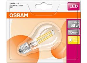 Ampoule LED Sphérique claire filament 6W=60 E27 chaud