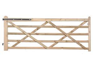 Portail western pin traité clas. 4 marron 3,5m hauteur 1,20m