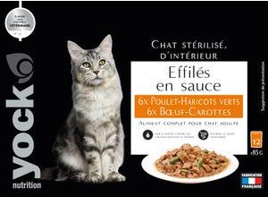 Effilés en sauce chat stérilisé Poulet & Bœuf
