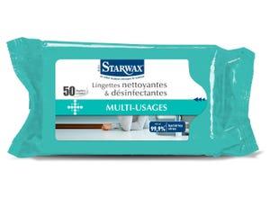 Lingettes nettoyantes et désinfectantes (x50)