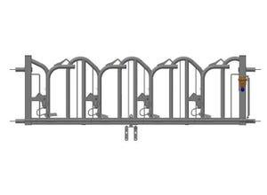Panneau verrouillage par le bas 8 places 5 m