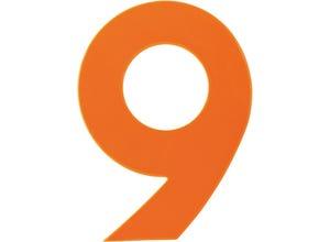 Chiffre haute visibilité pvc adhésif orange - n°9