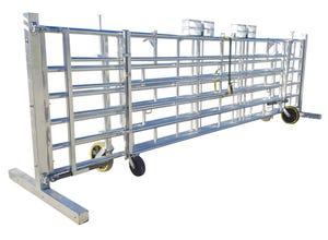Barrière autoportée 6 panneaux + 2 barrières de pré 36 m