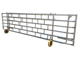 Barrière dépliable avec ancrage sur poteau d'un côté 11 m