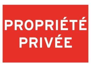 """Panneau de signalisation """"propriété privée"""" pvc adhésif"""