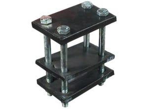 Bride complète pour carré 25 chassis 80x80