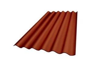 Plaque ondulée 5 ondes Plakfort Colorplus 1,52 m rouge
