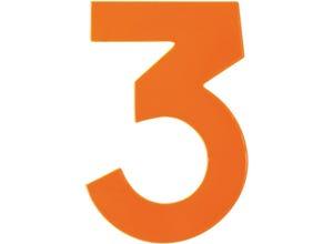 Chiffre haute visibilité pvc adhésif orange - n°3