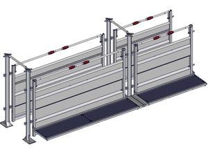 Couloir de contention fixe sur platine 5 m