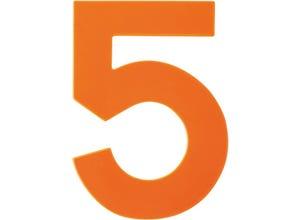 Chiffre haute visibilité pvc adhésif orange - n°5