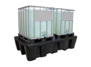 Bac de rétention PEHD 1100 L 2 conteneurs