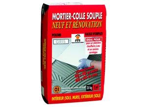 Mortier-colle souple neuf et rénovation 25kg