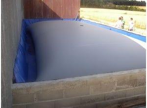 Citerne souple pour engrais liquides 40m3 avec tapis