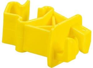 Isolateur standard jaune pour piquet T (les 25)