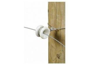 Isolateur poulie d'angle porcelaine (x10)