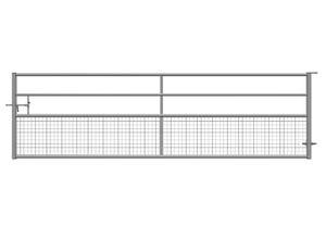 Barrière d'herbage fixe semi-grillagée 4,50 m