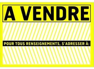 """Panneau de signalisation """"A vendre"""" pvc avec adhésif"""