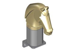 Tête de cheval avec support (box)