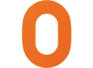 Chiffre haute visibilité pvc adhésif orange - n°0