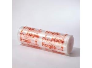 """Rouleau film bulles 10m x 60cm imprimé """"FRAGILE"""""""