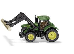 Tracteur John Deere avec pince à bois