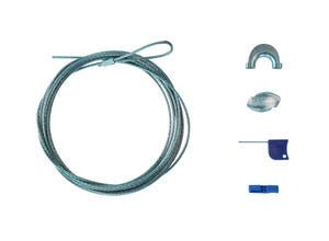 Kit piquets bois medium + câble ZnAl 4,5m (3mm)