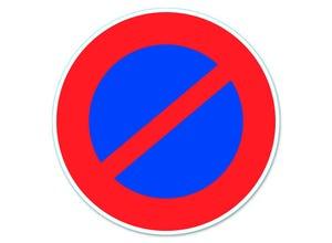 """Disque de signalisation""""""""stationnement interdit""""""""pvc adhésif"""