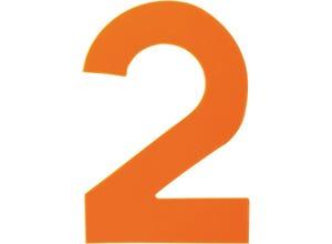 Chiffre haute visibilité pvc adhésif orange - n°2
