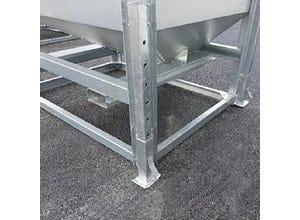 Pieds galvanisés pour container Hopper (x4)