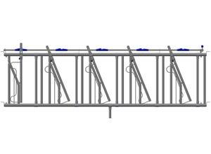 Cornadis Securit panneau à encolure réglable 6 places 3,60 m