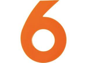 Chiffre haute visibilité pvc adhésif orange - n°6