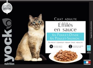 Nutrition Effilés en sauce chat adults Poulet Dinde Saumon