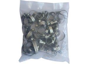 Colliers de serrage acier larg.9 mm Ø10 à 40 mm (x40)