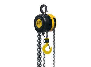 Palan à chaîne charge maxi 1T hauteur maxi 2,5m