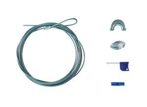 Kit piquets bois medium + câble ZnAl 2,5m (3mm)