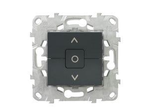 Unica2 interrupteur volet roulant - anthracite