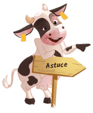 mascotte vache astuce